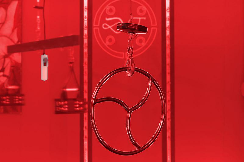 Dark Elements Bondage Ring mit elektrischem Flaschenzug - BDSM Mietstudio, Fetisch, Mietstudio